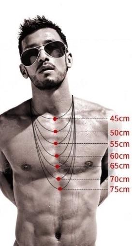 Mäta halsbandslängd för man