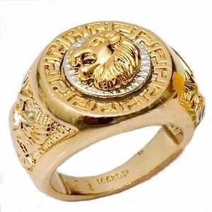 Klackring för herr i två toner guld a9208f9eaa656